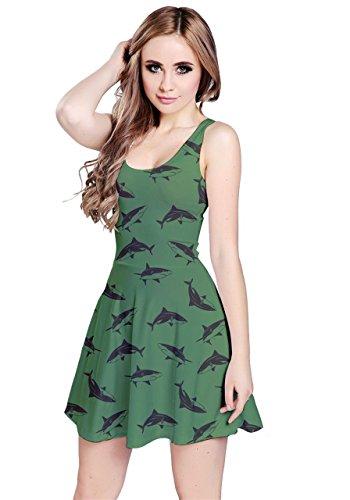 CowCow - Vestido - para mujer Green Sharks