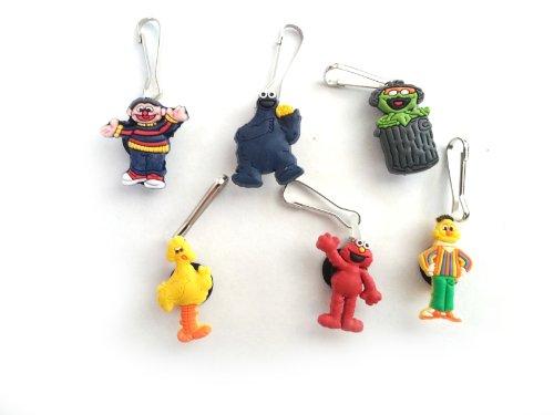 [AVIRGO 6 pcs Zipper Pull / Zip pull Charms for Jacket Backpack Bag Pendant Set # 94-2 by Hermes] (Ernie From Sesame Street Costume)