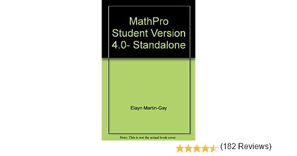Supplement: Mathpro Student Version 4.0- Standalone - Prealgebra 4 ...