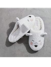 ZYGAJ Soft Cute Bear Soft Warm Women's Shoes Cotton Slippers Cute Rubber Bottom Non-Slip Home Adult Slippers