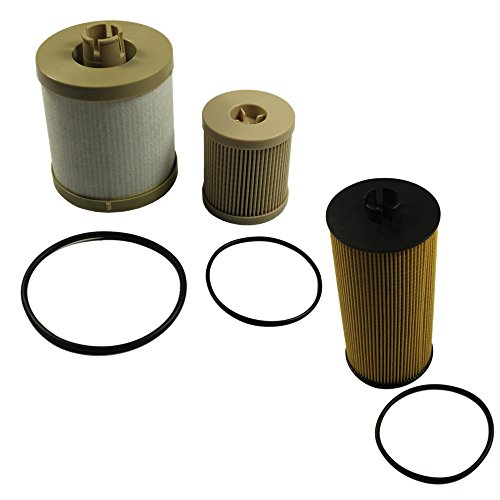Price comparison product image CARMOCAR For Ford Powerstroke 6.0L Diesel Oil Filter Fuel Filter 03-07 FL2016 FD4604 FD4616