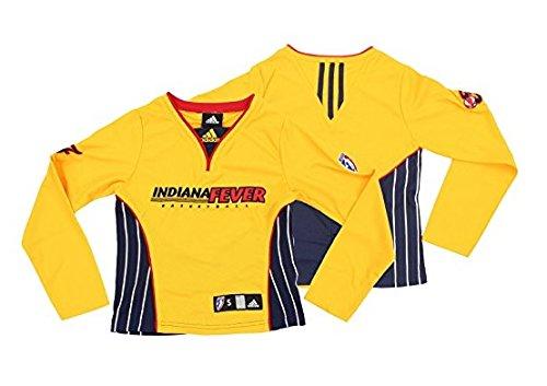 Indiana Fever WNBA Big Girls Long Sleeve Shooting Shirt Top, Yellow-Navy