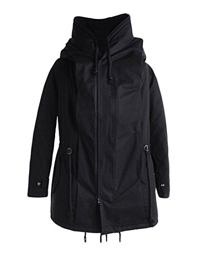 Sheng Xi Men's Windbreakers Long Hoodie Thick Fitted Park...