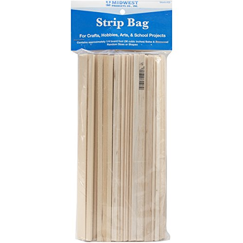 Midwest Products Project Woods Balsa & Basswood Strip Economy Bag]()