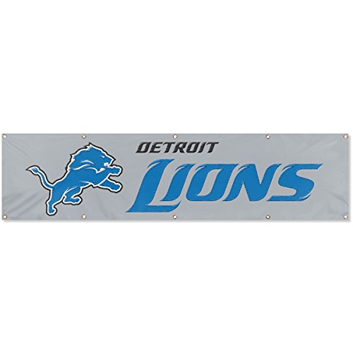 - Party Animal Detroit Lions Silver Large 8 Foot Banner