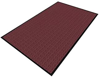 product image for Apache Mills Burgundy Yarn/PVC, Entrance Mat, 4 ft. Width, 8 ft. Length - 0103411024X8