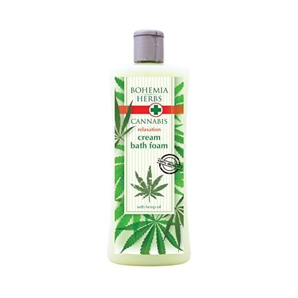 Cannabis Spa Gift Pack Original Pure Natural Cosmetics. Cream shower gel 500 ml with hemp seed oil. Bath salt 600 g with hemp seed oil. Handmade soap.