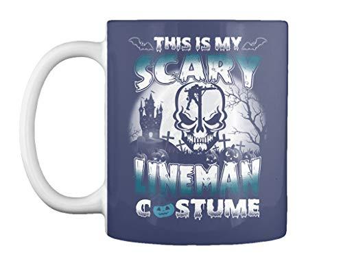 This is my scary lineman costume 11oz - Dk navy Mug - Teespring Mug