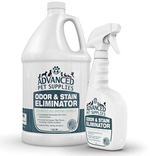 Advanced Pet Supplies Odor Eliminator and Stain Remover Carpet Cleaner with Odor Control Technology, Cat Urine and Dog…