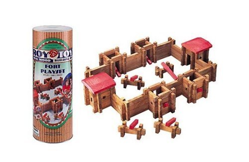 Roy Toy Classic Fort in Large Canister by Roy Toy Manufacturing made in New England