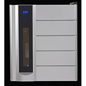 """Avanti WCP13-IS 18"""" Wine Chiller Preserver/Dispenser with 13 Bottle Wine Preservation Argon Gas Wine Preservation Thermoelectric Cooling System and Interior LED Lighting in"""