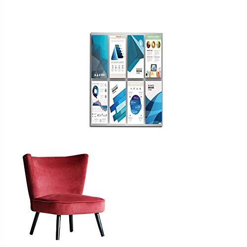 Wall Sticker Decals Blue Backgrounds and Abstract Concept infographics and Icons Mural 20
