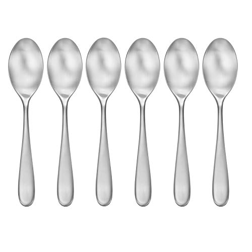 CraftKitchen Open Stock Stainless Steel Flatware Sets (Satin Classic, Dinner Spoons Set of 6)