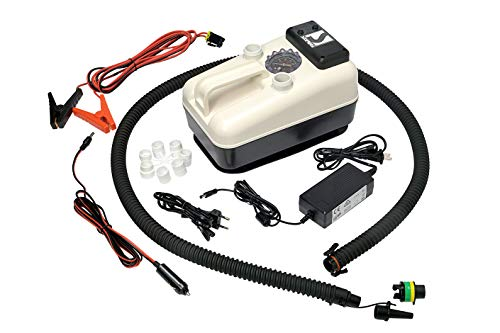 Bravo SUP Electric Air Pump, max 21 psi, A Premium 12 v Inflatable inflator, Ideal for Inflating Boats, Kayaks, Paddle Boards, dinghy