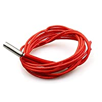 Pudincoco 3D Printer Parts 12V/24V 40W Heating Pipe Single-Ended Electric Heater Tube(Red) from Pudincoco