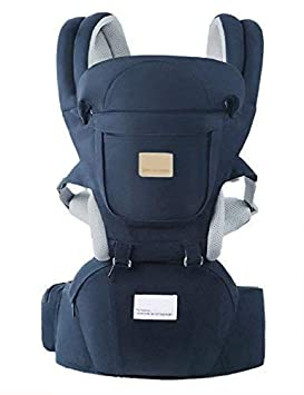 Ergonomic 360 Baby Soft Carrier Easy to Put On 6 Comfortable Positions Breastfeeding Fits All Newborn Toddler HipSeat Air Mesh Breathable All Seasons Perfect for Hiking Shopping Gift Package Blue