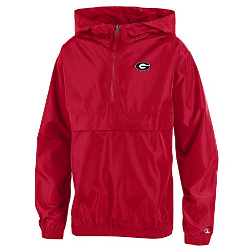 Champion NCAA Georgia Bulldogs Youth Boys Packable Jacket, X-Large, ()