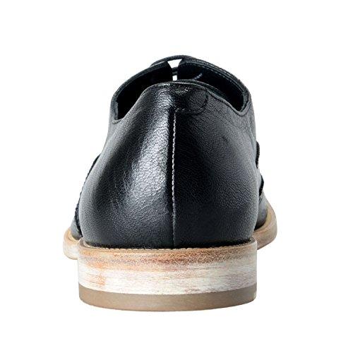 Versace Collection Heren Lederen Zwarte Wingtip Oxford Casual Schoenen Maat Ons 12 It 45