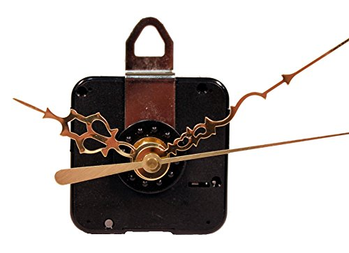 (Creative Hobbies Quartz Clock Motor Movement, C91MQS, 3/8 Inch Max Dial Thickness, 7/16 Inch Threaded Shaft Length, Complete Kit)