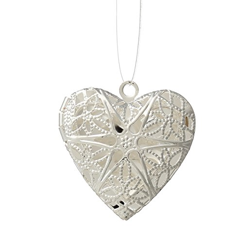 Housweety Silver Plated Pendants 26x26mm