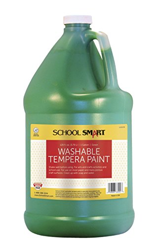 School Smart Washable Tempera Paint - Gallon - Green