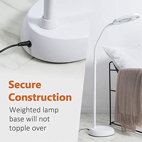 Lightek Daylight LED Lamp 2 In 1 Magnifying Floor Lamp 5X Floor Lamp 6500K