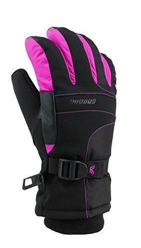 Gordini Aquabloc III Gloves - Kid's Black/Deep Pink Medium