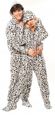 Amazon.com: Jumpin Jammerz Dalmatian Hoodie Footed Pajamas: Clothing