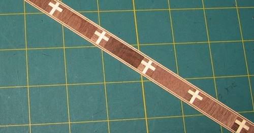 Walnut/Holly Real Wood Inlay Banding Strip 1/2 X -