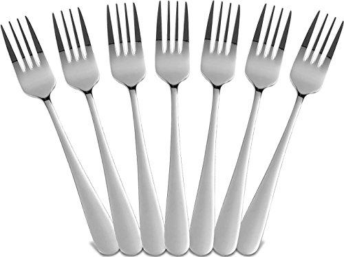 Utopia Kitchen Sterling Dinner Forks Set, Royal Cutlery, 12 Forks (Kitchen Forks)