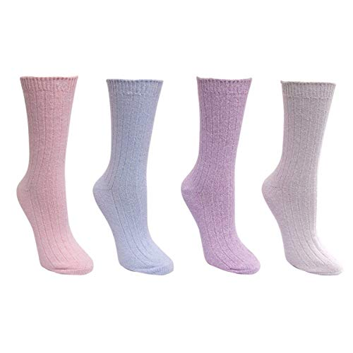 Carole Hochman Ladies' Lounge Sock 4-pair (4-10, Multicolored)