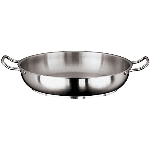 - Paella Pan, Stainless Steel -Dia 9 1/2'' X H 2''(1 Each/Unit)