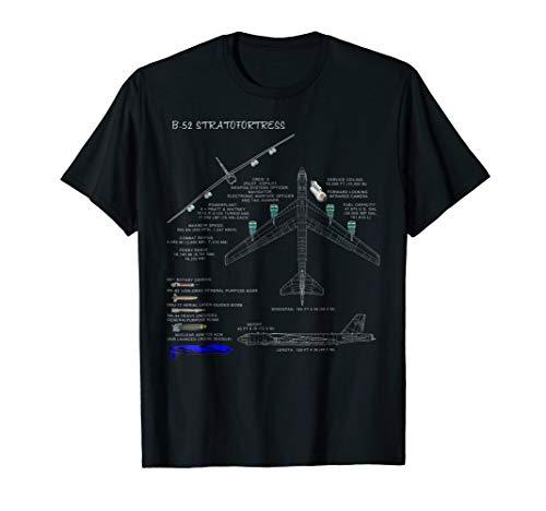 (B-52 Stratofortress Specs T-Shirt B-52 Bomber T-Shirt)