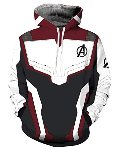 Riekinc Superhero Pullover Hoodie Tech Jacket Sweatshirts Cosplay Costume (Mens-X-Large, -