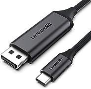 UPGROW Cabo USB C para DisplayPort 4K a 60Hz 1,2 m para Home Office USB C para DP Cabo compatível com MacBook