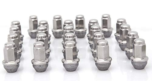 EZDealin 24 Lug Nuts Set Polished Stainless 14x2 OEM Factory Style Replacement Wheel Nuts for 2004-2014 Ford F-150 Expedition Navigator 54mm Long 21mm Hex Size ()