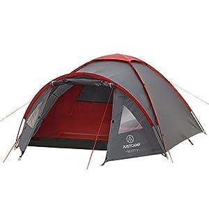 41uO ff2oFL. SS300 JUSTCAMP Scott Campingzelt mit Vorraum, Iglu-Zelt für 3 od. 4 Personen (doppelwandig), Kuppelzelt