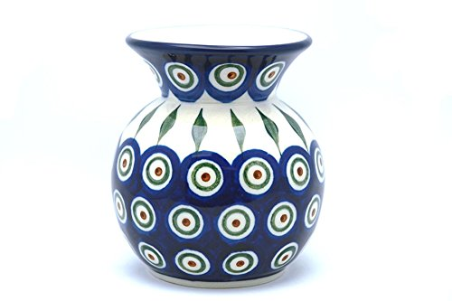 Polish Pottery Vase - Round with 2