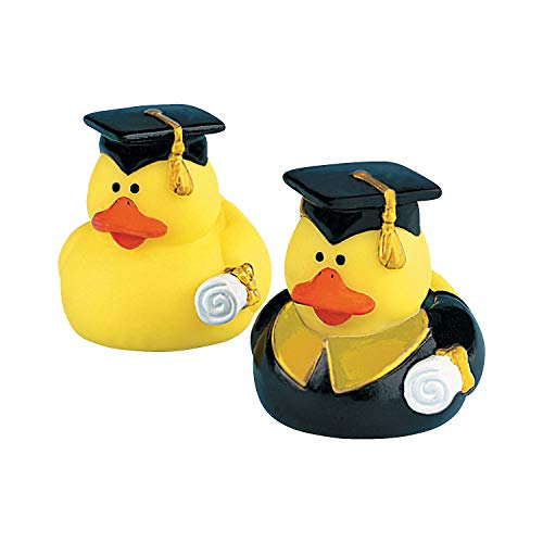 Fun Express Graduation Graduate Rubber Ducky Duck Party Favor Set (1 Dozen) (Graduate Rubber Duck)