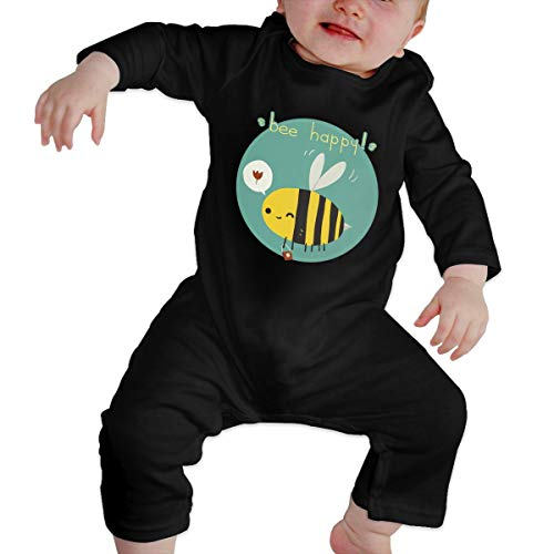 Newborn Baby Bib Beekeeper Keeps Long Sleeve Romper Creeper Black]()
