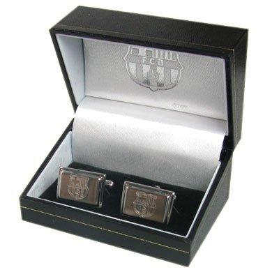 Fc Barcelona mancuernas en acero inoxidable Metal caja de regalo