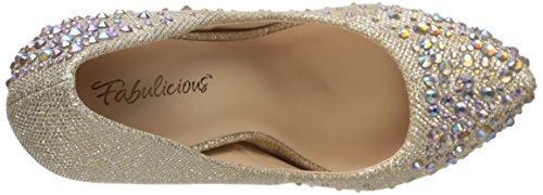 Mesh Fabulicious Glitter Sandali Fabric 6 Donna Uk Nude wIIZrq