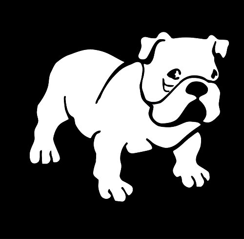 UR Impressions English Bulldog Decal Vinyl Sticker Cars Trucks SUV Vans Walls Windows Laptop|White|5.5 X 4.7 Inch|URI044