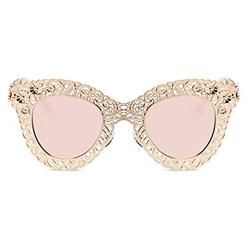 Gafas sol Barbie de Gafas Huicai de Frame Sunglasses Eye decorativas Trend retro Rosa de sol Cat sol Gafas Trend wBfOxpS