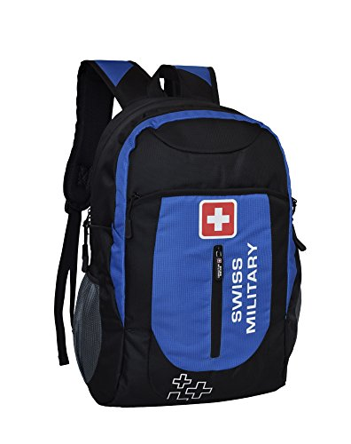 Swiss Military Polyester Blue   Black Laptop Backpack LBP39
