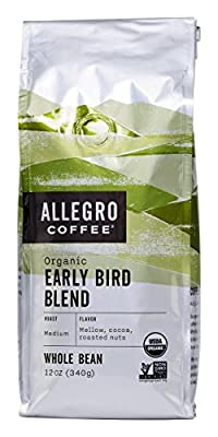 Allegro Coffee Organic Early Bird Blend Whole Bean Coffee, 12 oz by Allegro Coffee
