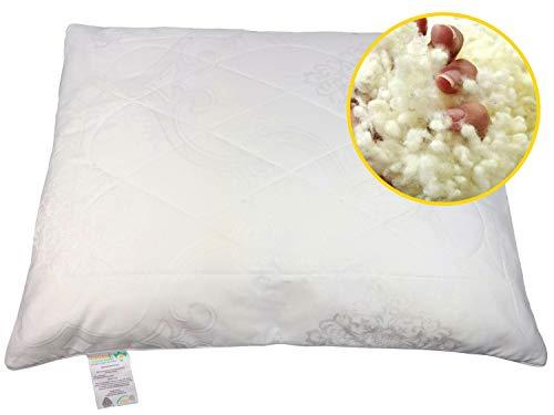 Organic Comfort Market Wool Pillow, Standard (20x26)
