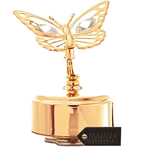 Crystal Studded Butterfly Figurine Matashi