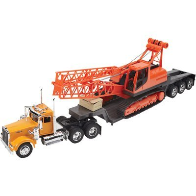 W900 Series - Kenworth W900 1:32 Scale Construction Series Big Rig with Crane For Kids Age 8+