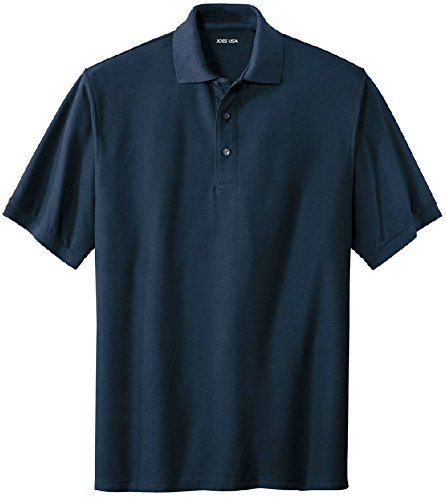 Joe's USA Men's Classic Polo Shirts - Regular X-Large (44-46) - Navy